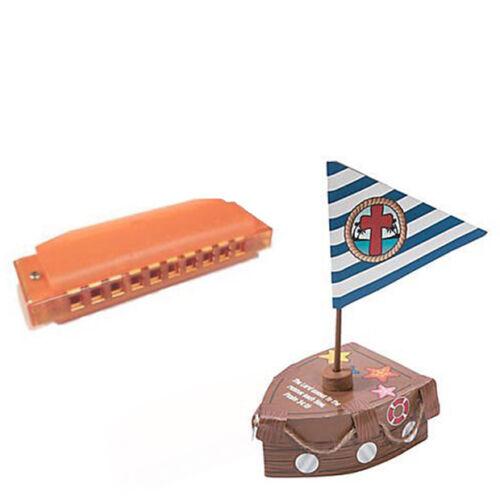 Music Craft pack W//Orange Harmonica /& Prayer Box Craft VBS Island Theme