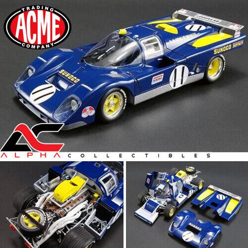 ACME M1801001 1 18 1971 Ferrari 512 M 24HRS Le Mans Mark Donohue  11 Sunoco