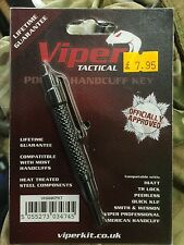 Viper Pocket Tactical Handcuff Key HIATT Police Speedcuff Security extra long