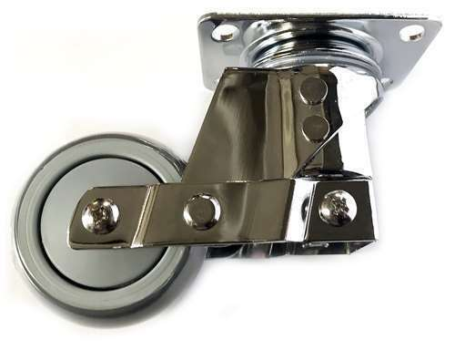 4  Inch Caster Wheel 176 pounds Swivel Polyurethane Top Plate