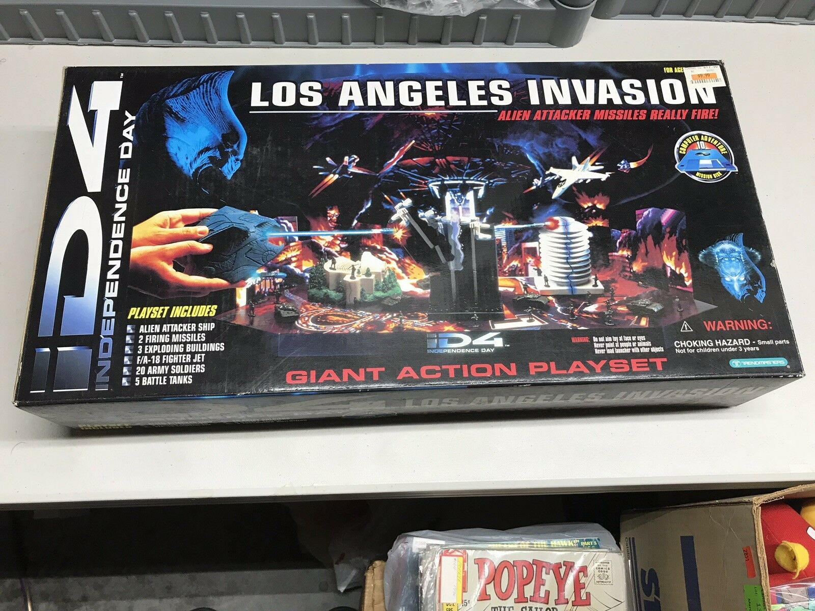 Trendmasters Id4 Independence Day Los Angeles Invasion Playset 1996