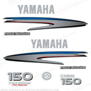 Yamaha outboard motor decal kit 150 hp 4 stroke kit for Yamaha marine dealer system