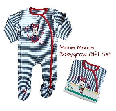 Baby Girls MINNIE MOUSE Babygrow Sleepsuit Gift 100/% Cotton