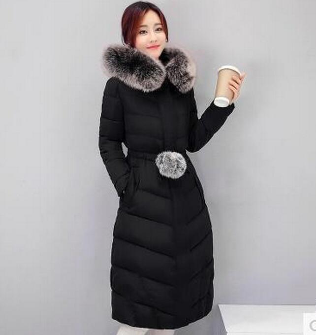 Womens Womens Womens Slim Fit Long Fur Hoode Coat Down Cotton Warm Outwear Parka OvercoatsE246 168ce2