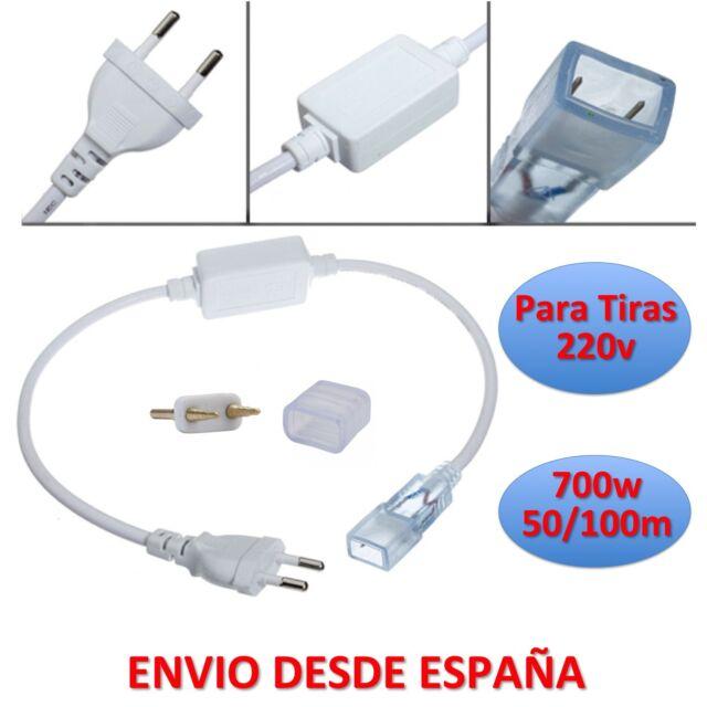 Conector Alimentador para Tiras de 220v con Led 5050 o 3528 EU Plug Connector