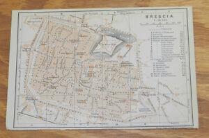 1909 Antique COLOR Road Map of BRESCIA ITALY eBay