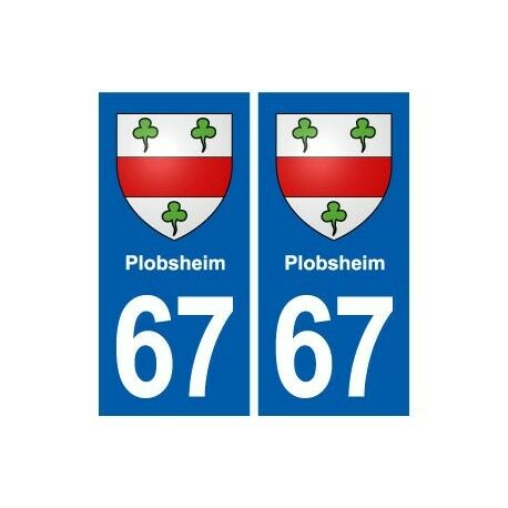 67 Plobsheim blason autocollant plaque stickers ville droits