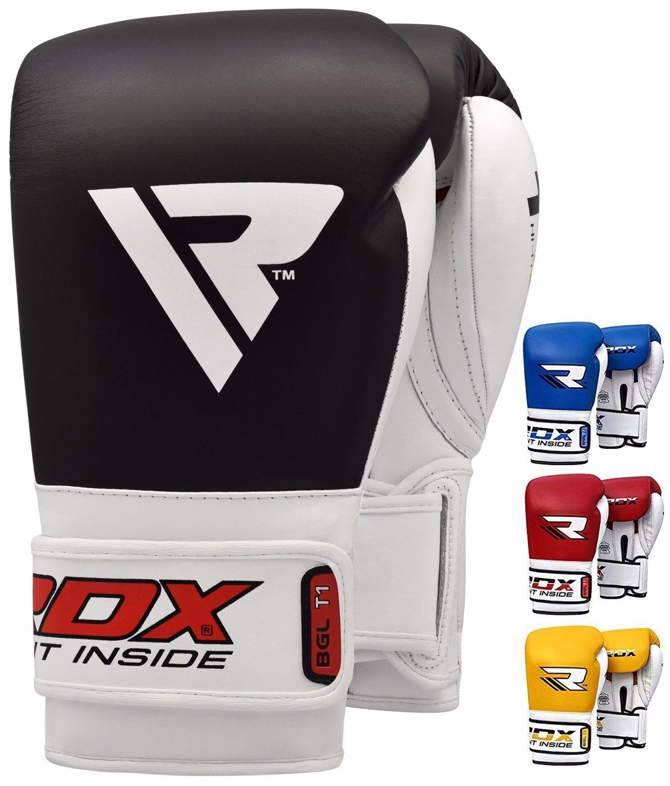 RDX thai Leder Gel Boxing Gloves Fight,Punch Bag MMA Muay thai RDX Grappling Pad UFC UR 103c38