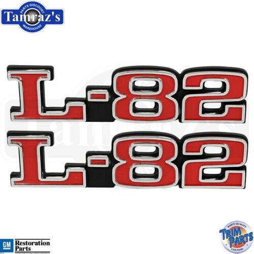 "1975-1979 Corvette /"" L82 /"" Hood Emblems Made in the USA Trim Parts Pair"