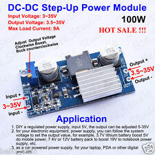 100W DC-DC Boost Step Up Converter 3-35V to 5-35V 12V 24V 9A Power Supply Module