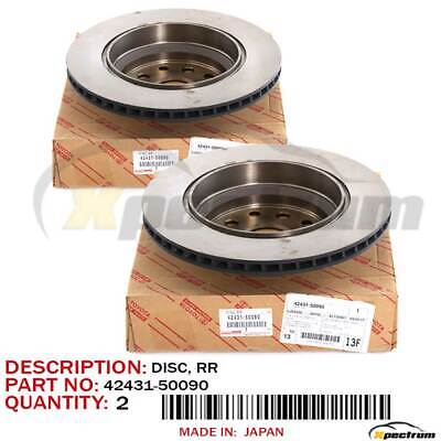 07-16 LEXUS LS460 FACTORY OEM 42431-50090 REAR BRAKE ROTOR DISC PAIR SET LH+RH