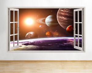 Dettagli su ADESIVI da Parete SPAZIO Luna TERRA PIANETI RAGAZZI camera da  letto Decalcomania POSTER 3D ART VIN B011- mostra il titolo originale