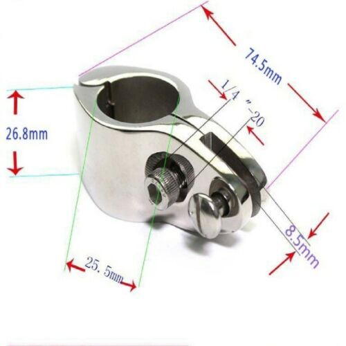 316 Stainless Steel 3 Pcs 1 inch 25mm Boat Cover// Canopy Bar Tube Knuckle Clamp