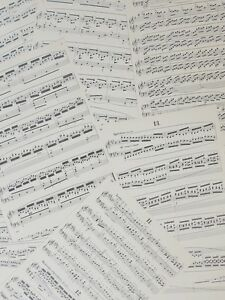Antique-Sheet-Music-Pages-25-x-Approximately-A4-for-decoupage-craft-collage