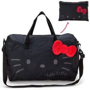 e7c2042797 Hello Kitty Handbags Canvas Foldable Travel Bag Large Capacity FREE ...