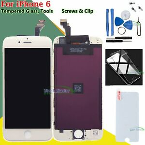 White-Digitizer-For-iPhone-6-6G-LCD-Touch-Screen-Display-amp-Tempered-Glass-Frame