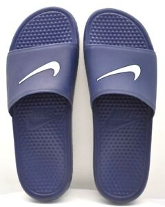 sports shoes ba934 eed39 Image is loading Nike-Benassi-Shower-Midnight-Navy-White-US-Size-