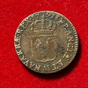2699-RARE-Louis-XVI-Sol-1791-AA-Metz-TTB-FACTURE