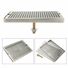 Stainless Steel Tower Cutout Draft Beer Drip Tray With Drain 12x9 Us Ship