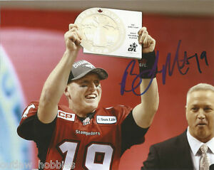 Calgary Stampeders CFL Bo Levi Mitchell Signed Autographed 8x10 CFL Photo COA C