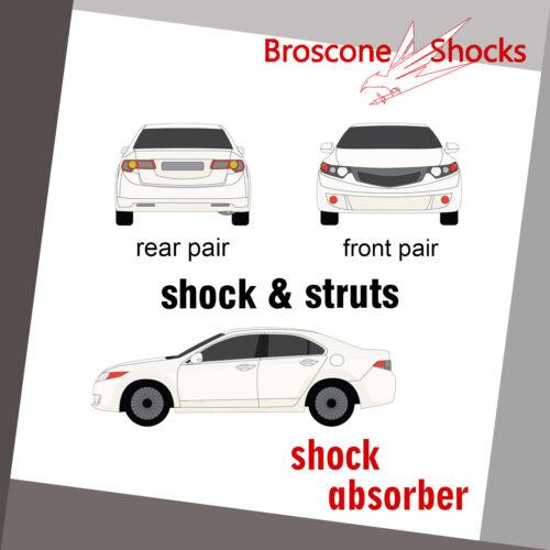 09-12 Suzuki Equator Full Set  Shocks /& Struts For 05-14 Nissan Frontier