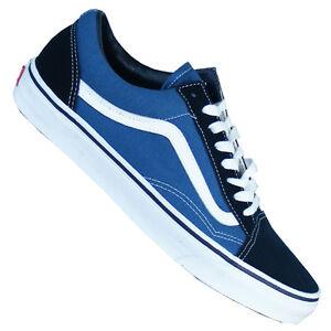 VANS OLD SKOOL SNEAKERS DONNA UOMO SALE classici scarpe blu bianco NUOVO 2017