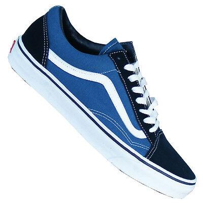Vans Old Skool Sneaker Damen Herren Sale Klassiker Schuhe blau weiß NEU 2017