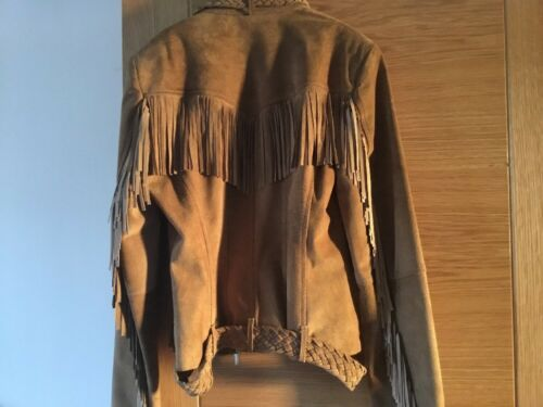 10 Fringe Jacket 8 Tan Made Leather Small Suede BqxHpvUn