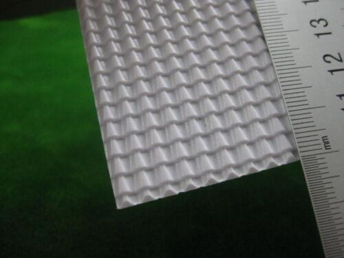 ABS Styrol Ziegel Dächer Muster A4 215 x 300 mm Weiß Spur 0 ABS13 4 Stk