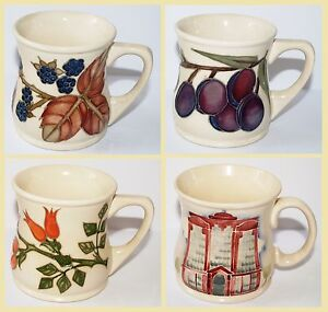 1st-Quality-Moorcroft-Decorate-Mug-Cup-Plum-Bramble-Beaufort-House-Floral