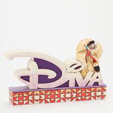 Jim Shore Disney Traditions Cruella De Vil Diva Word Plaque Dalmations 4038489