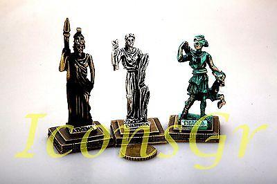 Statue Athena Olympian God Pantheon Zamac  Ancient Greek Miniature Sculpture