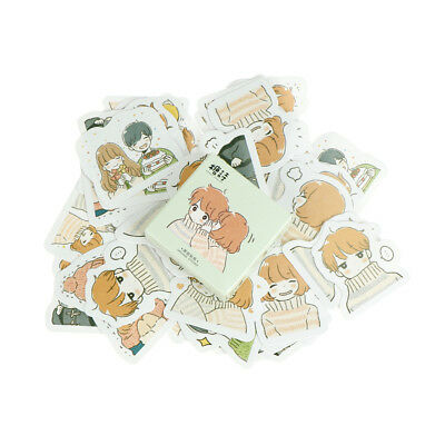45pcs Warmth Couple Paper Seal Stickers Scrapbooking DIY Diary Album LabelsSC