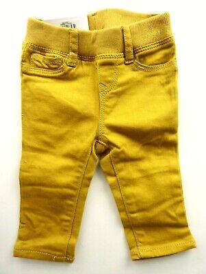 Baby Gap Girls Yellow Stretch Denim Pull Up Leggings Jeans Trousers 0 6m 14 95