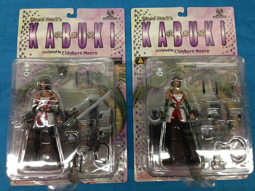 Kabuki regular and War Torn Action Figure set of of of 2 by David Mack - Moore 053