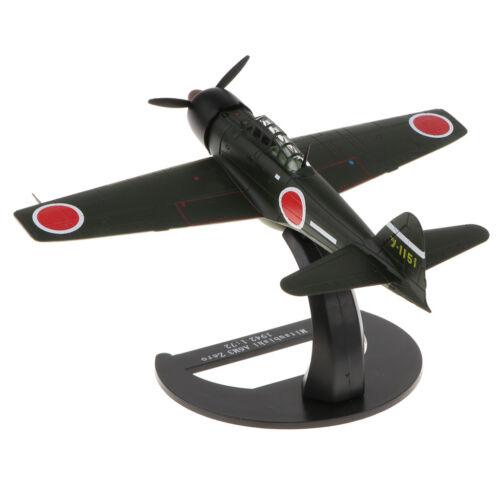 Diecast Military Model WWII Japan Mitsubishi A6M3 Zero Fighter Plane 1:72