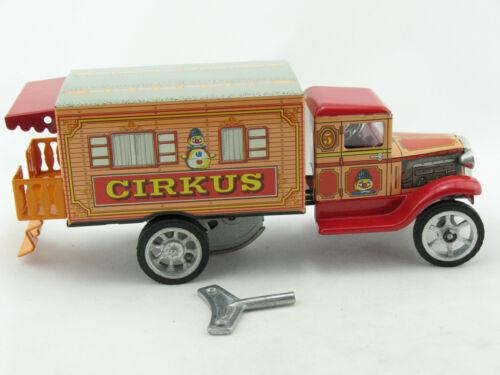 Blechspielzeug Blechauto Hawkeye LKW Zirkus-Wohnmobil mit Uhrwerk von KOVAP 0595