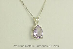 Sterling-Silver-5ct-Amethyst-Pear-Solitaire-Pendant-925-20-034-Rope-Chain