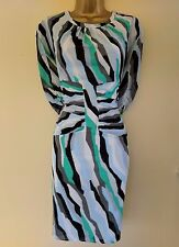 New Whistles Bella Ikat 16 Immaculate Silk Ruched Wedding Party Races Dress €200
