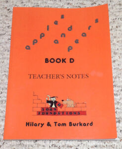 APPLES-AND-PEARS-BOOK-D-Teacher-039-s-Notes-Hilary-amp-Tom-Burkard