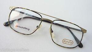 Occhiali-Pilota-Montatura-in-metallo-con-dritta-bordo-superiore-look-antico-54-16-merce-nuova-taglia