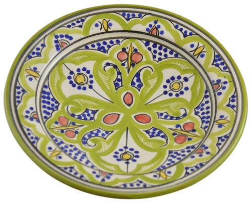 "Moroccan Ceramic Plate Salad Pasta Bowl Serving Handmade Wall Hanging 8/"" Small"