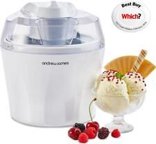 Andrew James Ice Cream Maker 1.5L - Sorbet & Frozen Yogurt Machine - White