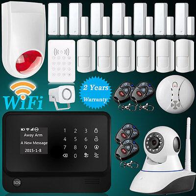 2016 WiFi GSM SMS Home House Burglar Alarm System Kit Wireless Alarm Accessories