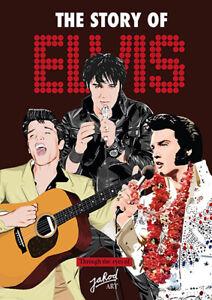 Elvis Presley - The Story of Elvis - Through The Eyes Of Jarod Art book