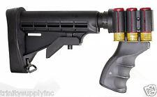 6 Position Tactical Stock For REMINGTON 870 12 Gauge Shotgun Rubber Butt Pad.