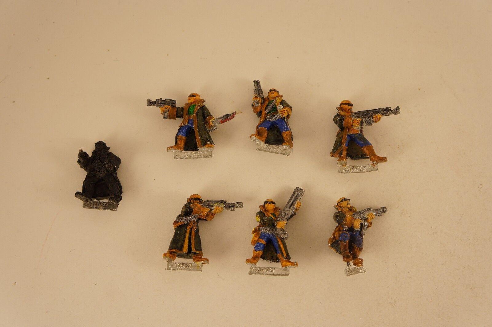 Necromunda delaque Gang Warhammer 40k sombra de guerra Lote 7 Metal juves Vara 90s