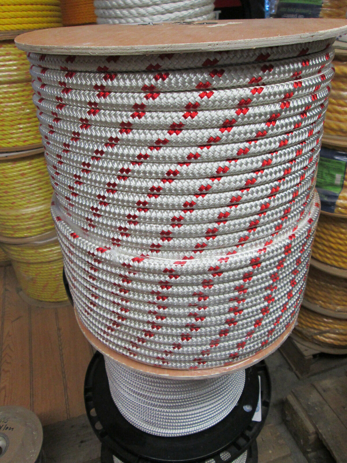 Wire pulling rope,anchor rope 12 x 150' double braid Polyester Made In USA