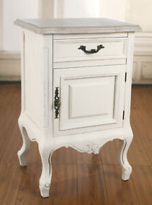 2-x-Bedsides-Chest-Table-French-Provincial-Antique-White-Night-Stand-custom