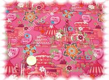 So cute Kelsy Baumwolle Webware pink 50 cm Stoff Stoffe nähen
